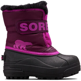 Sorel Snow Commander Bottes Enfant, purple dahlia/groovy pink